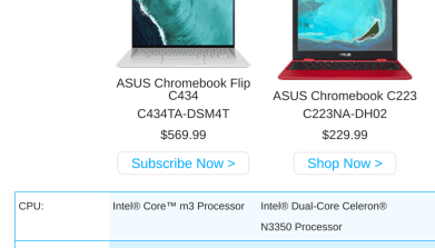 Asus Chromebook Flip C434 release expected in March