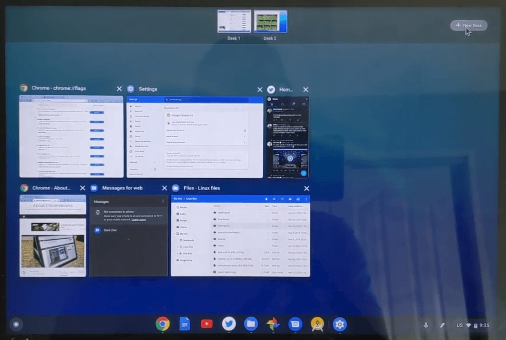 Chrome OS 77: First look at Virtual Desks on a Chromebook
