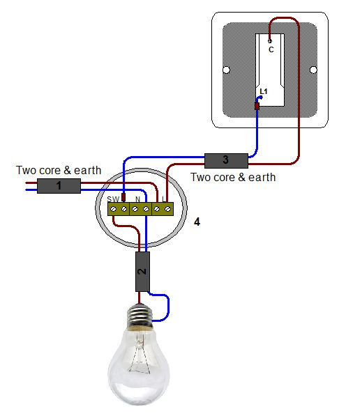 Light Switch Circuit Diagram Uk