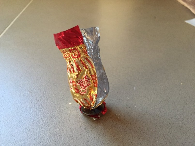 Curly Tops candy wrapper for sipa