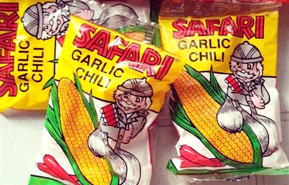 Safari Garlic Chili corn snack
