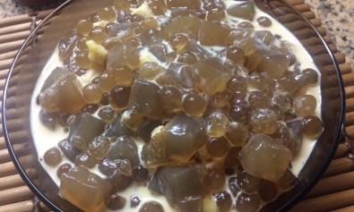 Brown Sugar Nata Cubes & Sago Balls with Evap