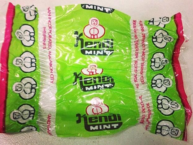 Candyman Kendi Mint candy wrapper...