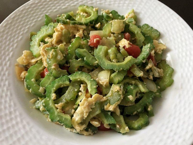 Filipino bittergourd dish