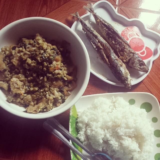 mongo dish, fried gg, kanin