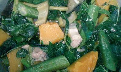 Pakbet with Saluyot Leaves