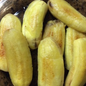 Peeled Saba Bananas