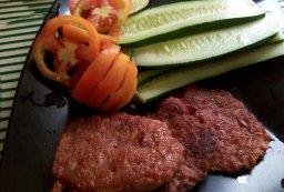 Tortang Alamang with Sliced Tomatoes