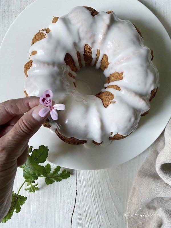 torta al pelargonio odoroso