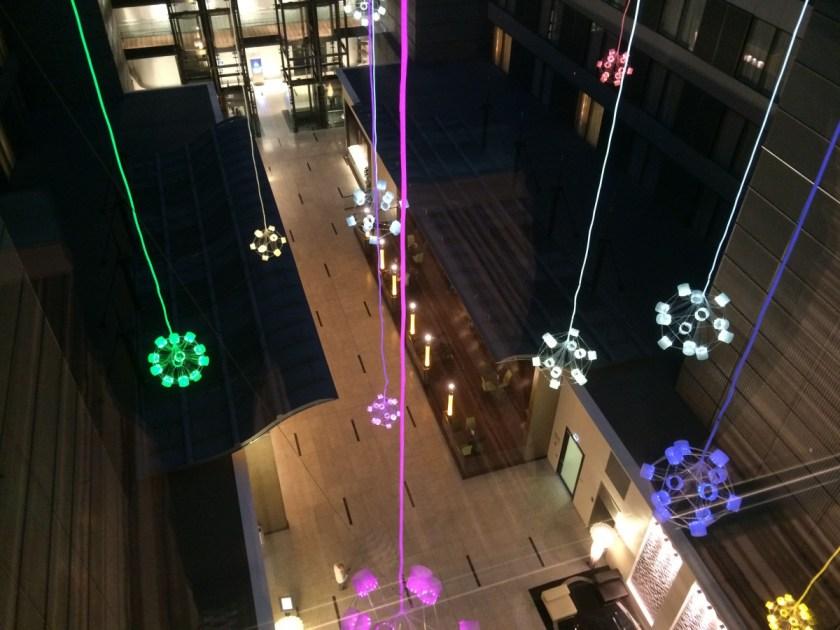 Blick vom 10. Stock in den Squaire