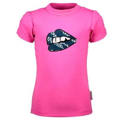 B-Nosy shirt with puff sleeves sugar plum