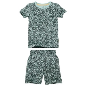 Quapi pyjama Pim AOP Green Leopard