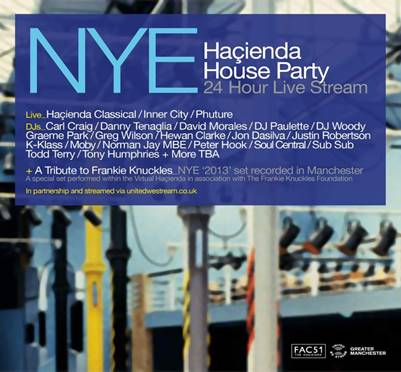 24 The Haçienda House Party on United We Stream for this New Year's Eve -  About Manchester