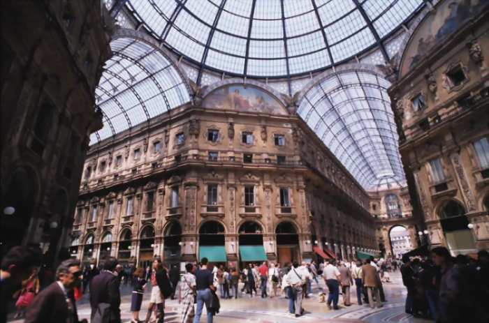 The Vittorio Emanuele Gallery, not to forget if you visit Milan