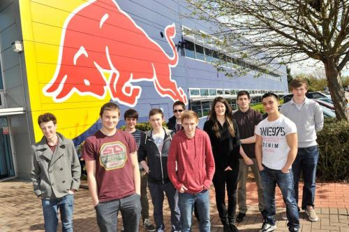 Apprentices arrive at Red Bull Technology