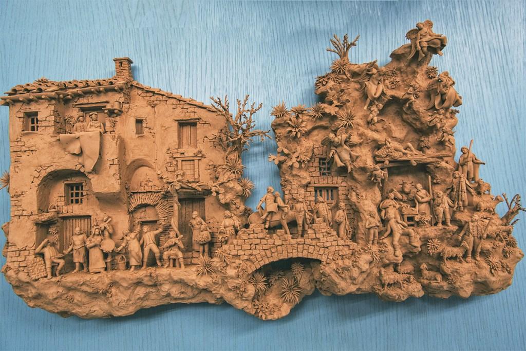 Marcello Aversa - Quadro in creta - About Sorrento