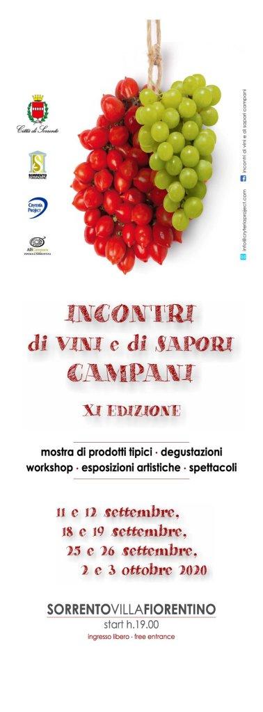 Sorrento programma Incontri di vini e sapori campani