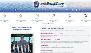 Uncle Larry's Lures ecommerce website