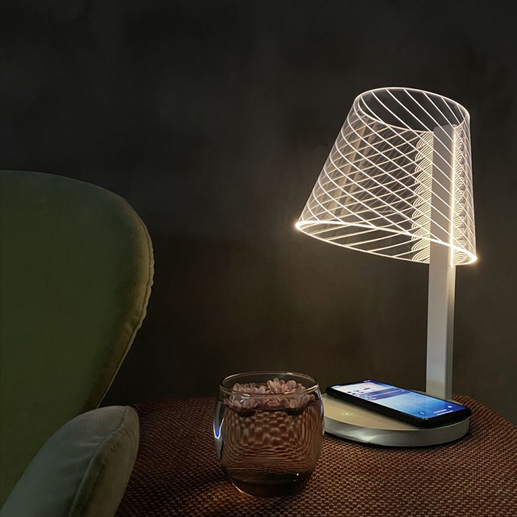 lamp with mobile phone wireless charger