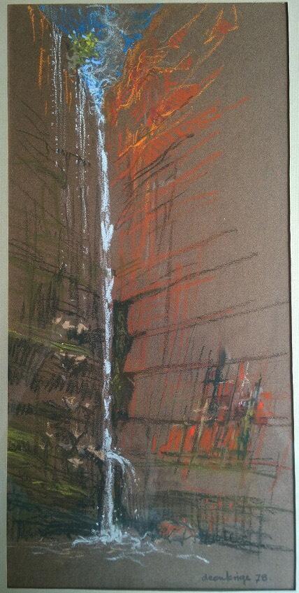 Elandskloof Waterfall by Deon Krige, 1978