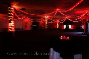 "Fabric swags and lighting say ""romance"" at any prom"