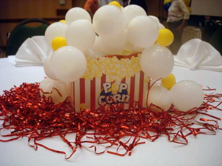 Fun popcorn centerpieces