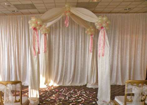 Say your vows under a romantic fabric gazebo
