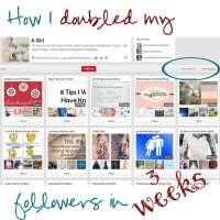 How I Doubled My Pinterest Follows in Three Weeks