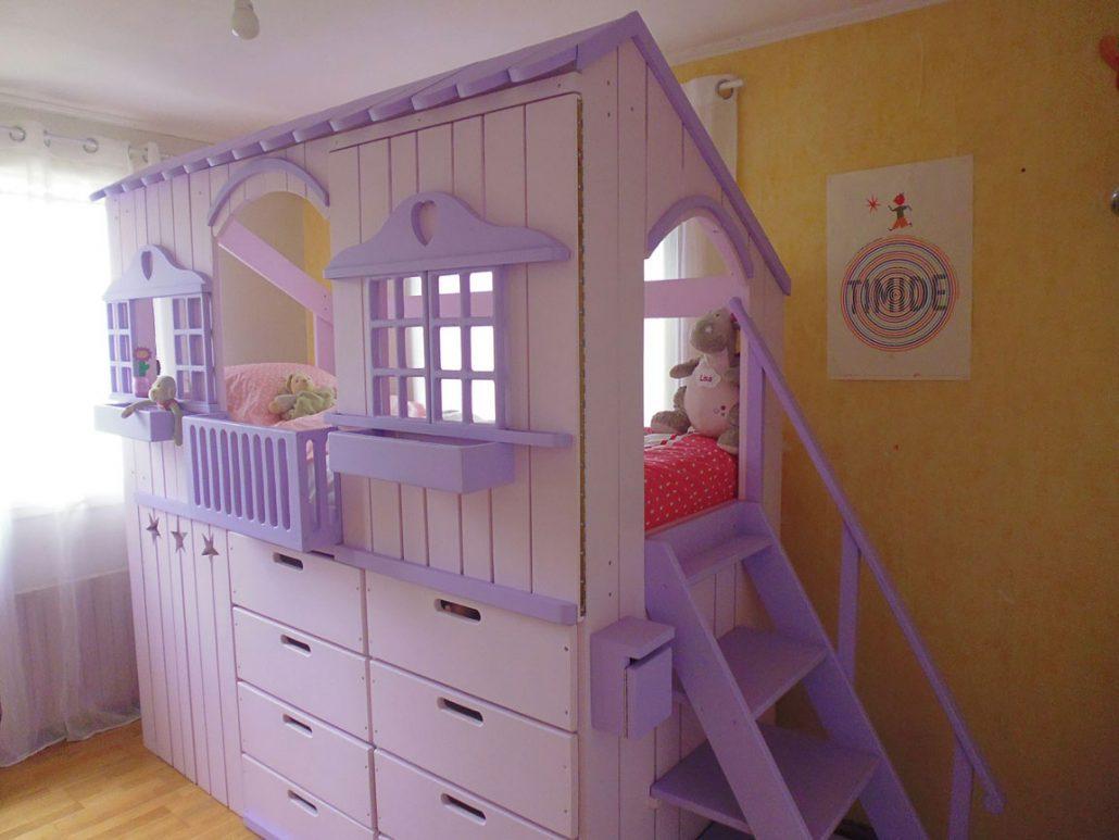 lit cabane en bois sur mesure pour