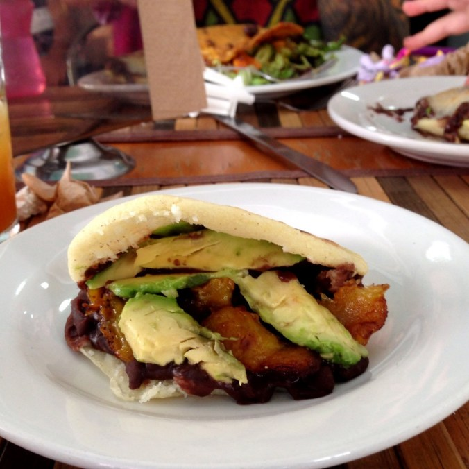 vegan arepa at kaxapa factory playa del carmen