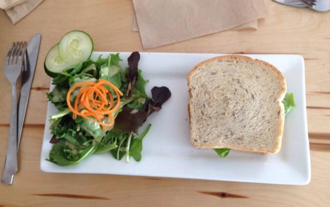 vegan gluten free chicken salad sandwich