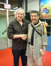 Os diretores Walbercy Camargo e Megumu Ishiguro no Festival do Japão 2005