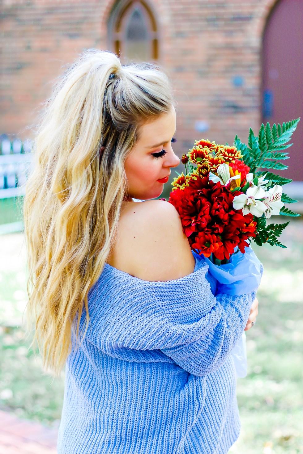 bluevnecksweater