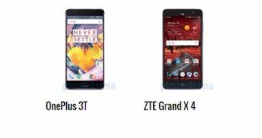 أبرز الفروق بين هاتفى OnePlus 3T وZTE Grand X 4