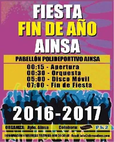 Fiesta de Fin de Año en Ainsa