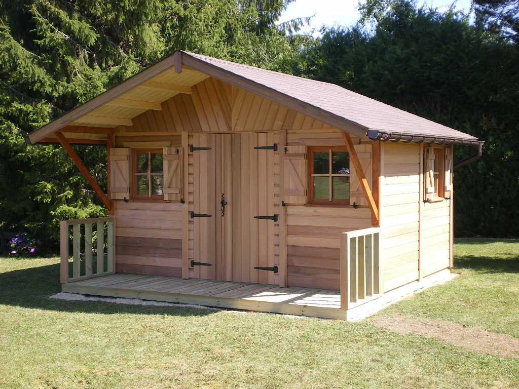 acheter abris de jardin en bois red