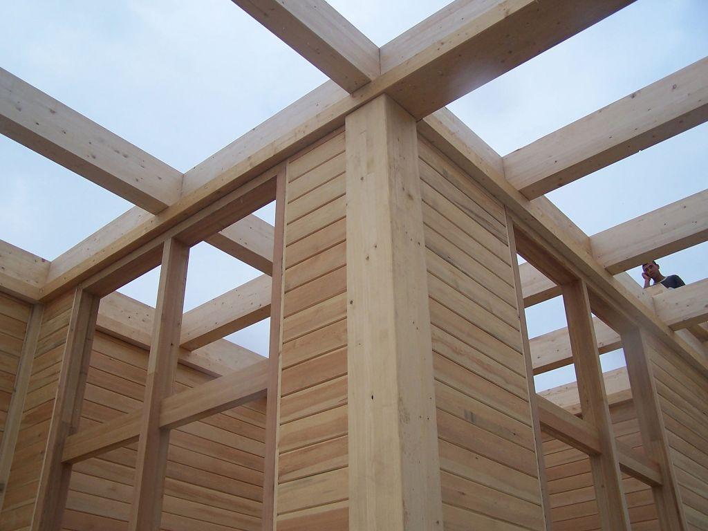 bois pour construire un chalet