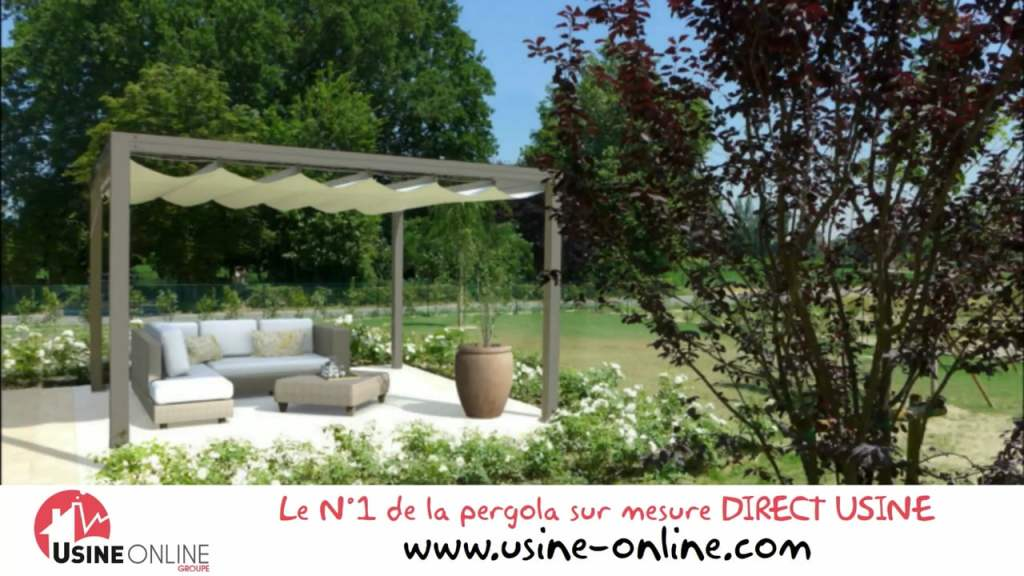 Pergola Aluminium Retractable - abri jardin bois France