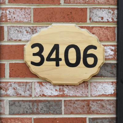 A $5 DIY Address Sign that Your House Guests Will Love