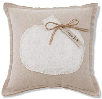A Brick Home: Neutral fall decor ideas | white pumpkins | neutral fall living room decor | farmhouse fall decor | fall ideas | fall decor