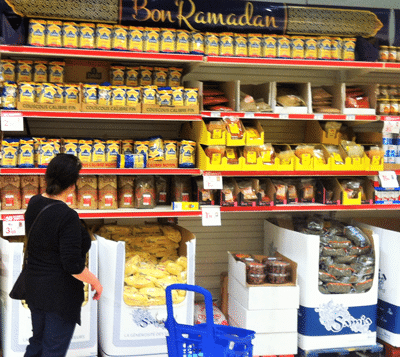 ramadan 2016 photo rayon halal dans un supermarché
