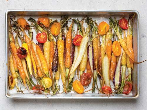 carottes roties en pickles et pesto de fanes by Trish Deseine