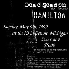 May 9th 1999 at The IO Cafe (Detroit, MI) Dead Season with Small Brown Bike, Thoughts of Ionesco and Hamilton. Photo courtesy of Brian Galindo