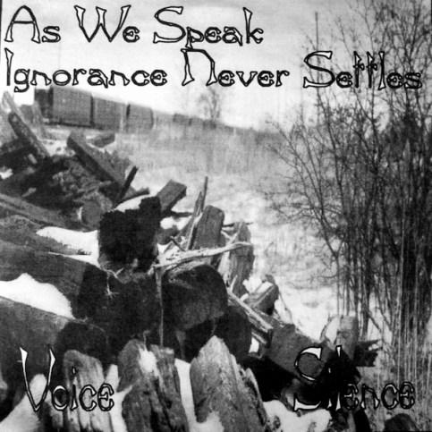 """Winter Records #1 - As We Speak/Ignorance Never Settles split 7"""", 1994"""