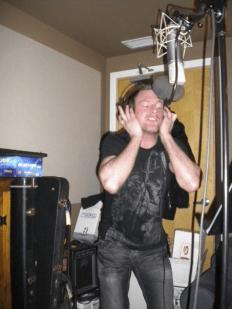 "Chris Gray recording ""Into the Flood"", circa January 9th 2010."