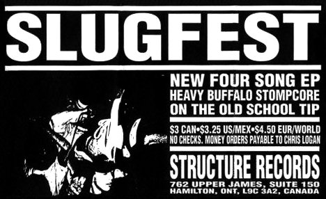 Structure Records ad for the Slugfest 7""