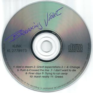 """Breaking Violet's """"Digging Up Old Bones"""" album. CD face."""