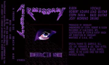 "Emissary's ""Reach In"" demo tape, September 1993."