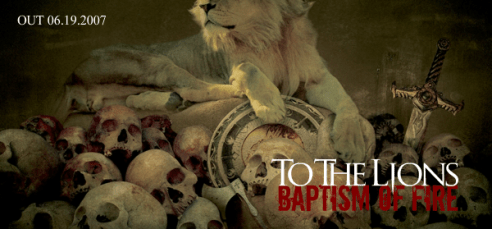 """Goodfellow Records ad for """"Baptism of Fire""""."""
