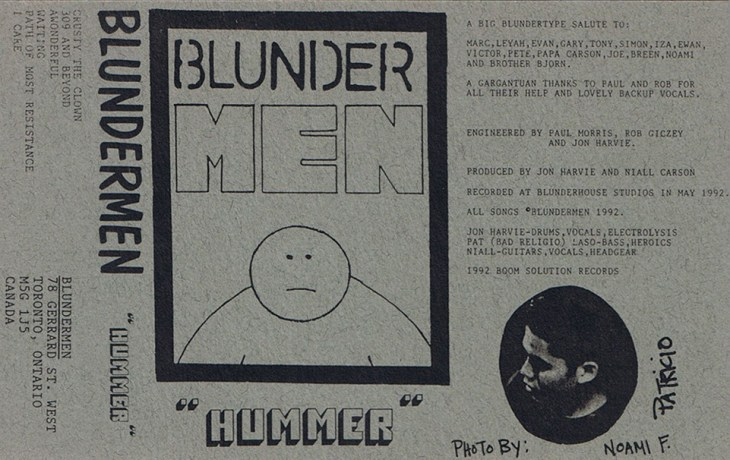 "Blundermen's ""Hummer"" demo tape, Boom Sound Records, June 1992"